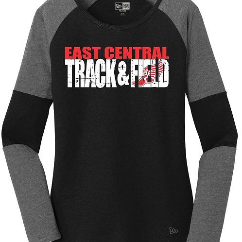 EC Track and Field New Era® Ladies Tri-Blend Performance Baseball Tee