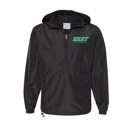 Heat Baseball Embroidered Packable Quarter-Zip Jacket