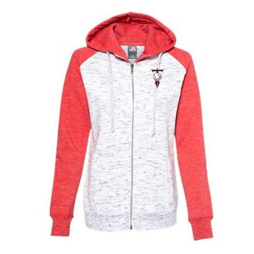 HVL Trojans Baseball 2021 Embroidered Ladies Colorblock Full Zip Sweatshirt
