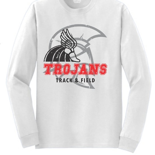 EC Track and Field Soft Style Long Sleeve White