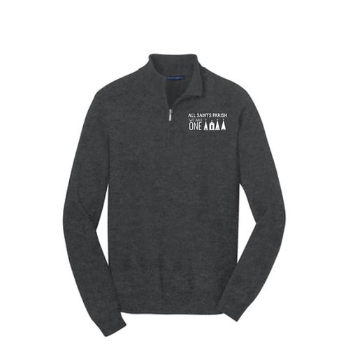 Embroidered 1/4 Zip Sweater