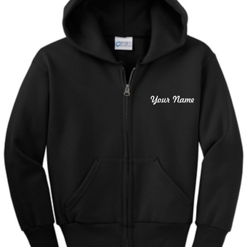 Miss Lizzy's Personalized Youth Embriodered Fleece Jacket