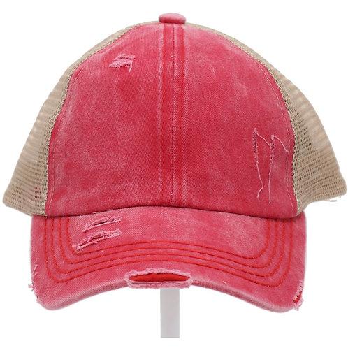 Blank CC Beanie Criss Cross Hat
