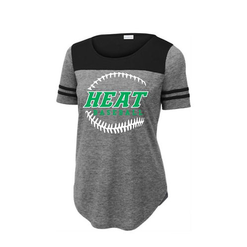 Heat Baseball Ladies Triblend Performance Tee