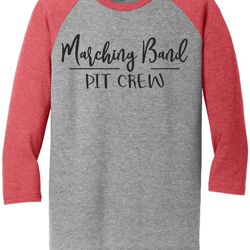District ® Perfect Tri ® 3/4-Sleeve Raglan EC Marching Band Pit Crew
