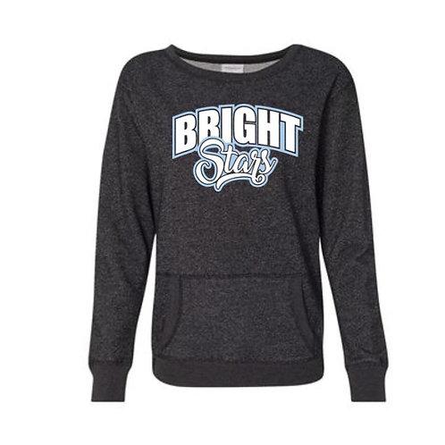 Bright Stars Women's Glitter French Terry Sweatshirt