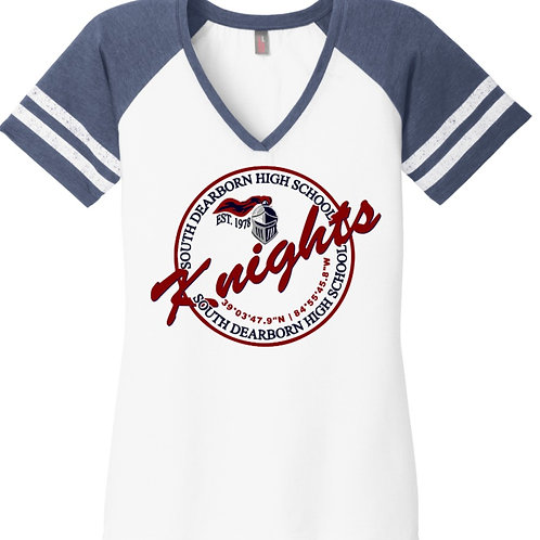 District ® Women's Game V-Neck Tee- Knights