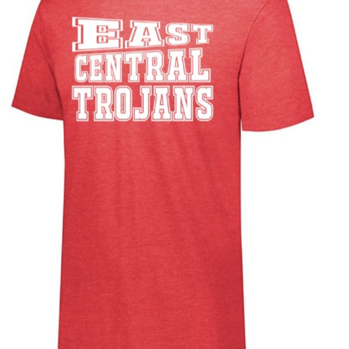 EC Track and Field Soft Style T-shirt Red