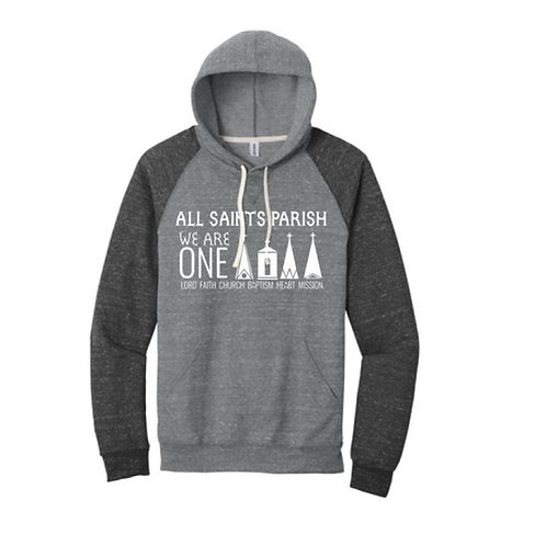 All Saints Parish Raglan Hoodie