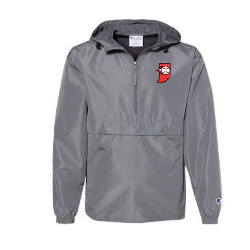 IN Ignite Embroidered Packable Quarter-Zip Jacket