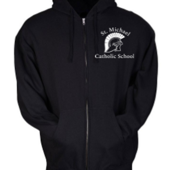 Embroidered Fleece Zip Hoodie St. Michael