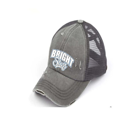 Bright Stars Criss Cross Gray Ladies CC Beanie Hat