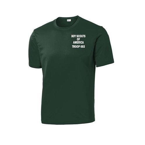 BSA Troop 693--100% Polyester Green T-Shirt
