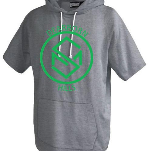 Short Sleeve Trainer Hoodie Green Design