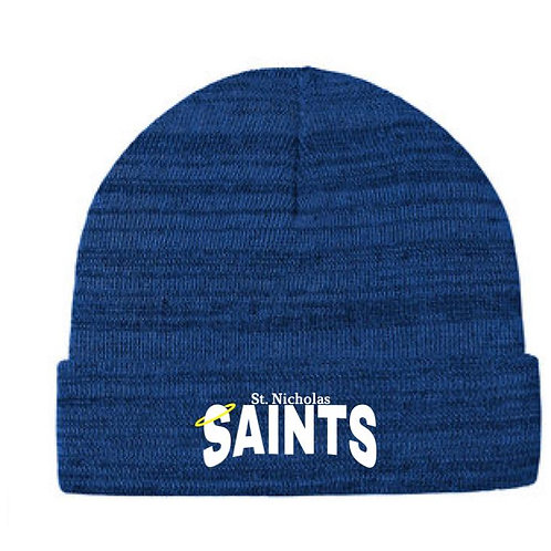 St. Nicholas Embroidered Knit Cuff Beanie