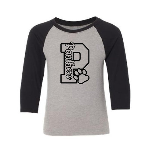 Youth Panther P Three-Quarter Sleeve Raglan