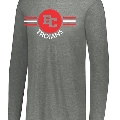 EC Track and Field Soft Style Long Sleeve Gray