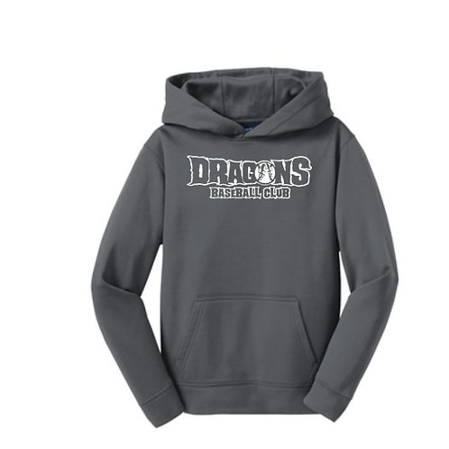 Dragons Baseball 2021 100% Polyester Hooded Sweatshirt