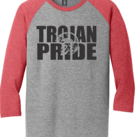 District ® Perfect Tri ® 3/4-Sleeve Raglan EC Marching Band