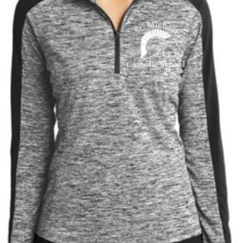Embroidered Sport-Tek® PosiCharge® Electric Heather 1/4-Zip St. Michael