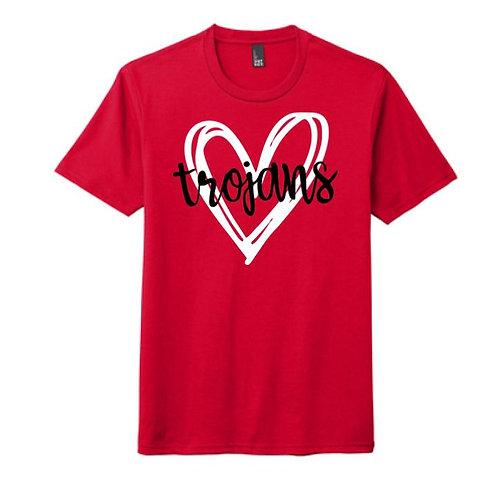 Red Trojans Heart