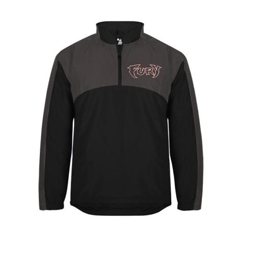Fury Baseball Embroidered Contender 1/4 Zip