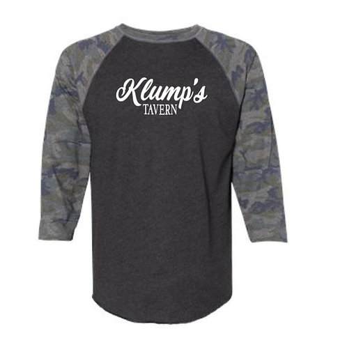 Klump's 3/4 Sleeve Camo Raglan