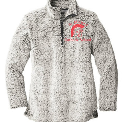 Embroidered Sherpa Pullover St. Michael
