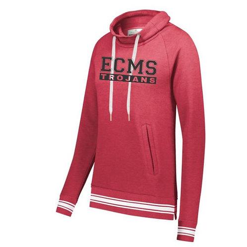 ECMS Ladies Ivy League Funnel Neck Pullover