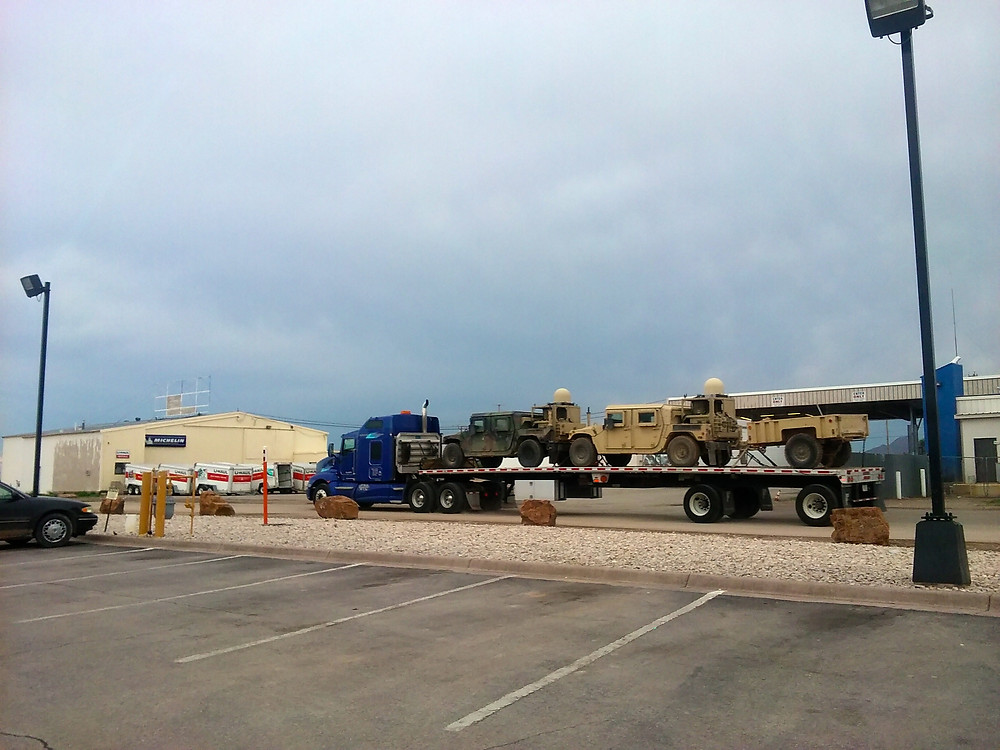 Saw so many military vehicles being transported along I-10 from Austin to El Paso. Good or bad?