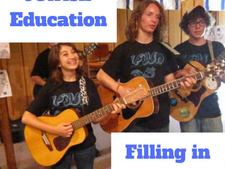 Jewish Education – Filling in the Gaps