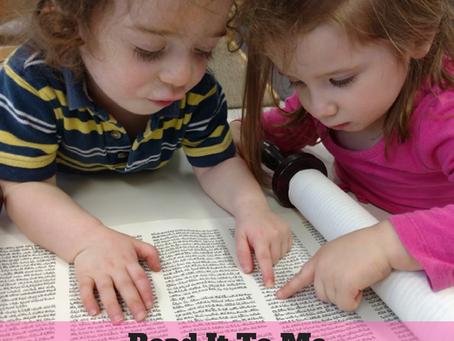 Read it to Me Again & Again & Again . . . Please!  (The Secret of Simchat Torah)