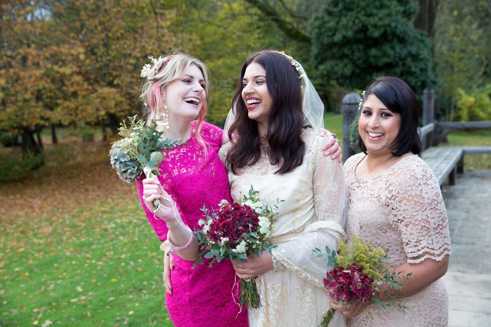 Seetal and the bridesmaids