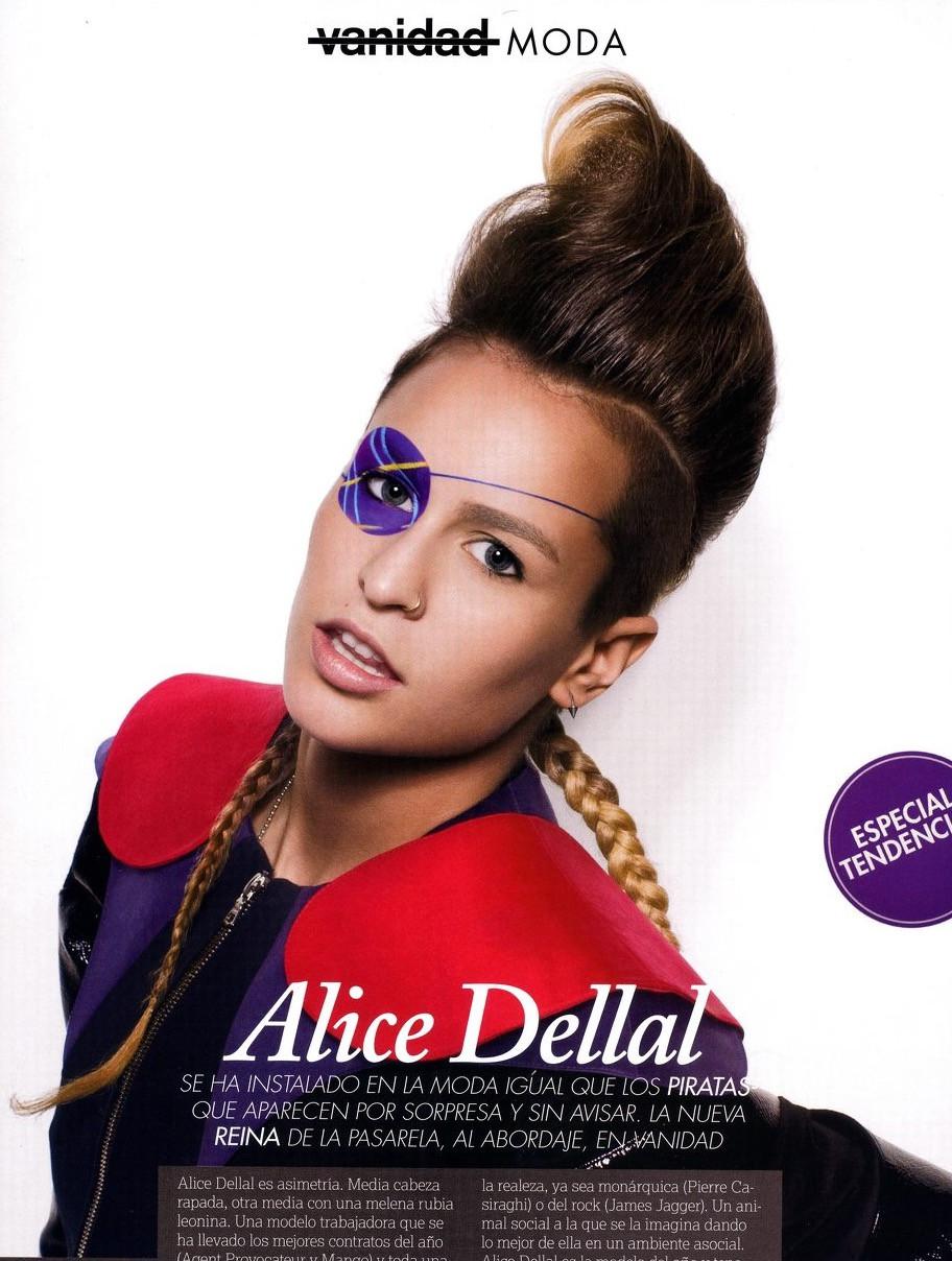 Alice Dellal for Vanidad magazine