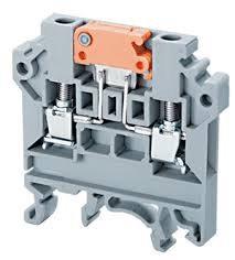 Clema terminal atornillable desconectadora  para 16 Amps, Riel DIN