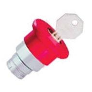 2AMLKB4 Operador Hongo  con llave, color rojo