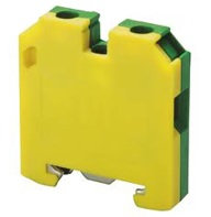 Clema atornillable para tierra 400V, 32 Amps, riel DIN