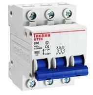 Interruptor miniatura  Curva C, 3 Polos, 230/400VCA (50/60Hz)
