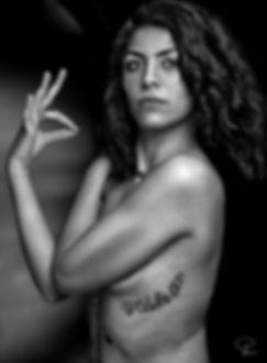 nude,b&n,black,white,algerie,tatoo,eyes,hair