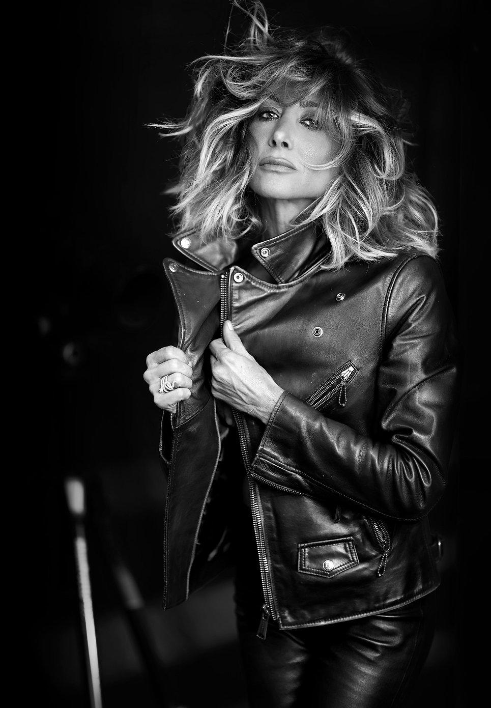 leather,jacket,sensual,bnw,blondhair,eyes,fashion,magazine,corsant-colat,frenchphotographer