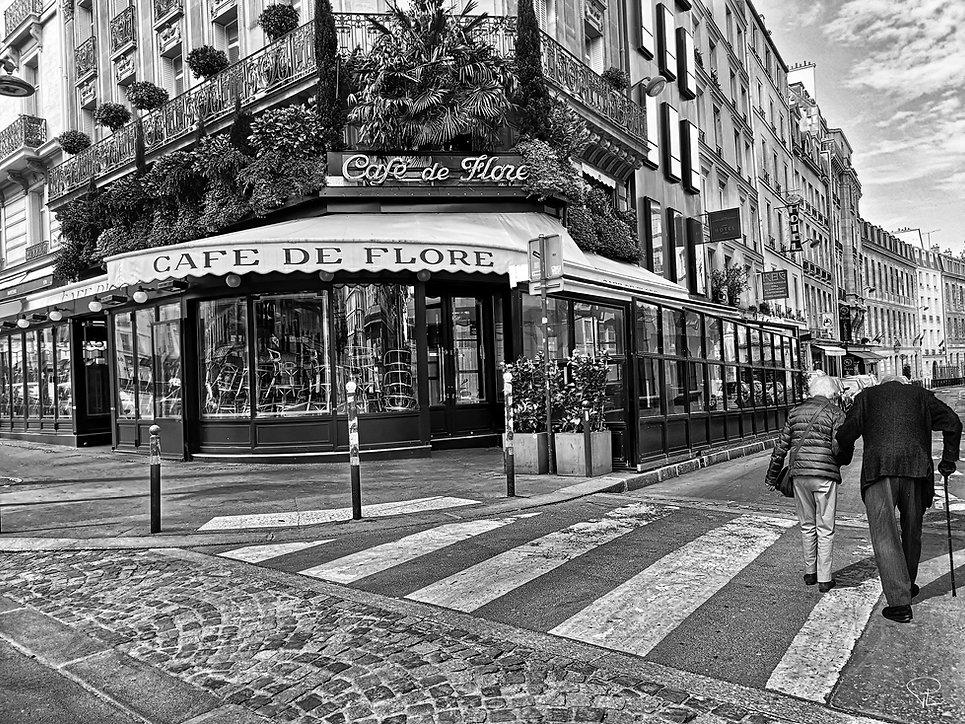 saintgermaindespres,cafedeflore,corona, oldcouple,oldman,silence