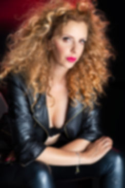 black,leather,red,blond,hair,italian,actress,fashion,beauty