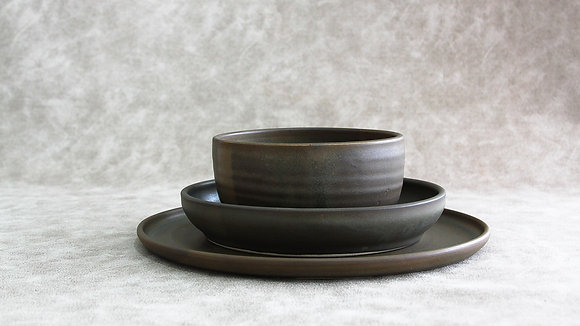 Charcoal - Simple Place Setting (3 Piece)