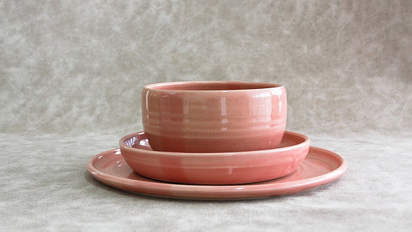 Fib's Pink - Simple Place Setting (3 Piece) (Wholesale)