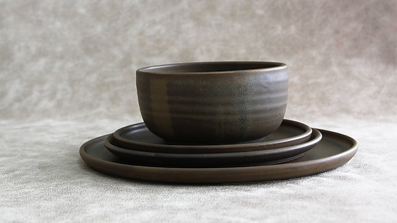 Charcoal - Full Place Setting (4 Piece) (Wholesale)