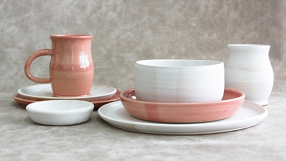 Fib's Pink | Moonstone - Deluxe Place Setting (8 Piece) (Wholesale)