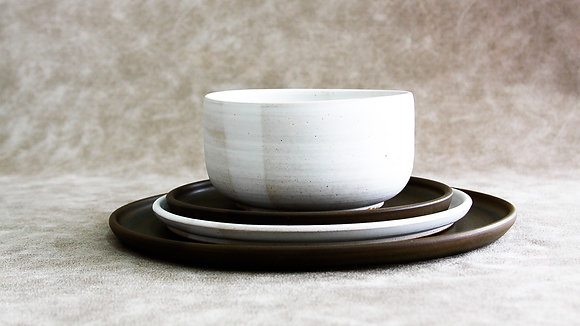 Charcoal | Moonstone - Full Place Setting (4 Piece) (Wholesale)