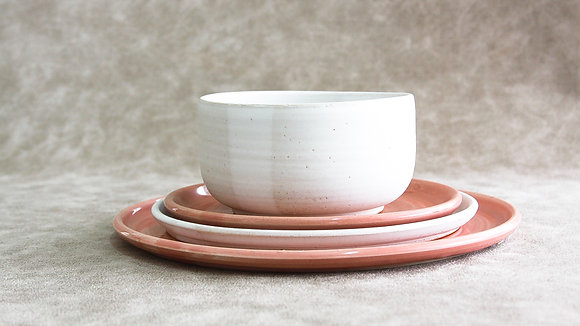Fib's Pink | Moonstone - Full Place Setting (4 Piece) (Wholesale)
