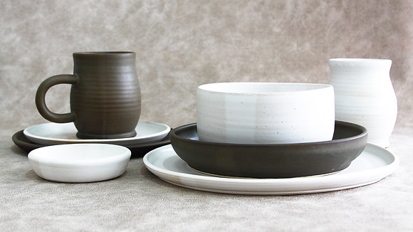 Charcoal | Moonstone - Deluxe Place Setting (8 Piece)
