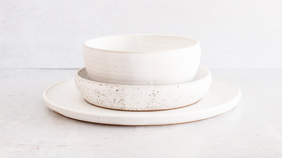 Moonstone | Dalmatian - Simple Place Setting (3 Piece)